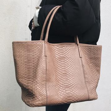 Python leather bag