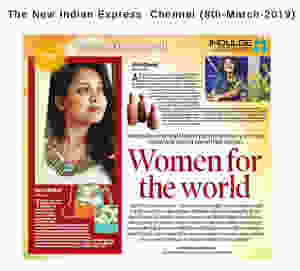 Surya Dinkar - Founder of Earthworks Innovative featured on The New Indian Express - Indulge (chennai) date: 8-3-2019