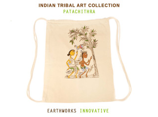 Earthworks Handpainted backpack - Patachitra