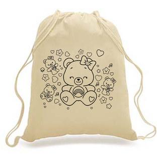 DIY-KIDS - Drawstring Backpack - TEDDY print