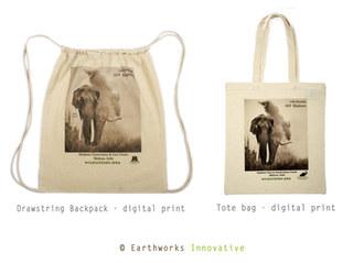 WILDLIFE SOS INDIA - Digital Printed CANVAS drawstring backpack