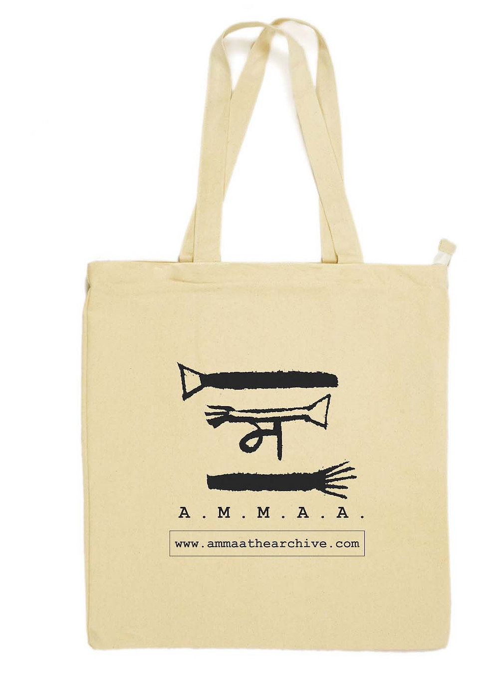 Earthworks canvas tote customised for A.M.M.A.A