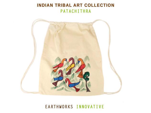 Earthworks Handpainted backpack - Patachitra