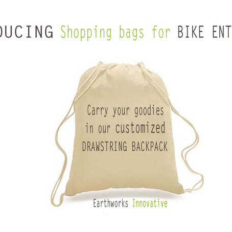 Why retailers should consider Earthworks' DRAWSTRING BACKPACK as shopping bags