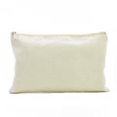 Canvas zipper pouch - white - Natural - Wholesale