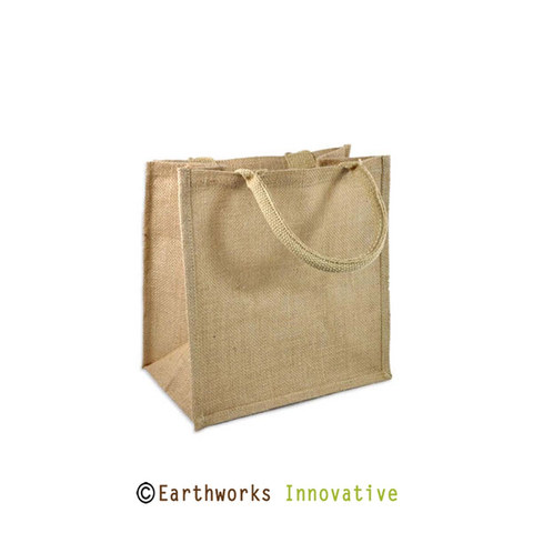 Earthworks Jute shopping bag with ribbed handle