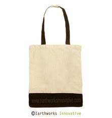 Earthworks Black Jute canvas tote bag