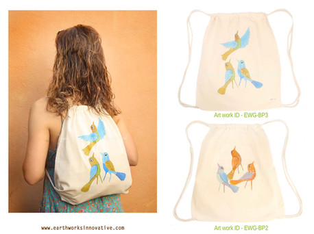 Earthworks handpainted bags - EWG-BP2 an