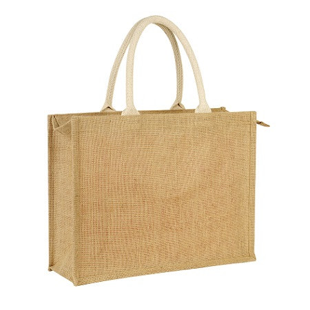 Earthworks Jute bag with zip