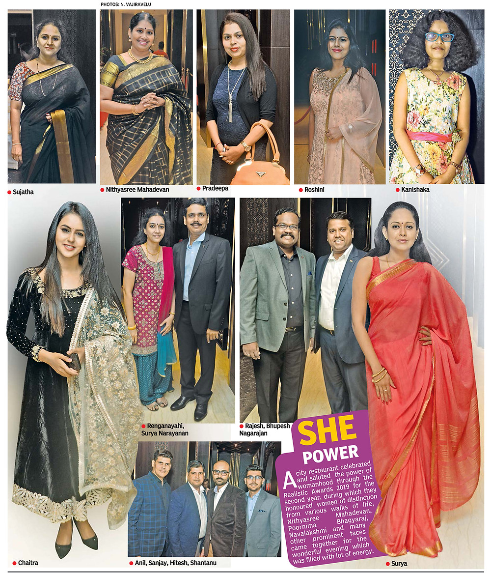 Surya Dinkar at Realistic awards - Deccan Chronicle Newspaper - Chennai. March 7th 2019
