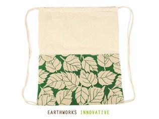 Earthworks SKU: BP03-PRINTED JUTE Earthworks Jute & Canvas Backpack