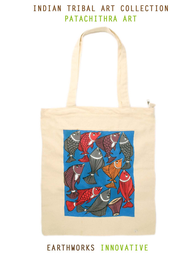 Earthworks Handpainted Tote - Patachitra