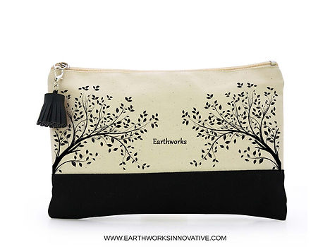 Earthworks organic sanitary KIT – certified organic, cruelty free & 100% natural. Cotton tampons, cotton cloth pads, biodegradable disposal bag