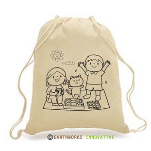 DIY-KIDS - Darwstring Backpack - picnic print