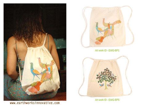 earthworks handpainted bag EWG-BP1 and 5