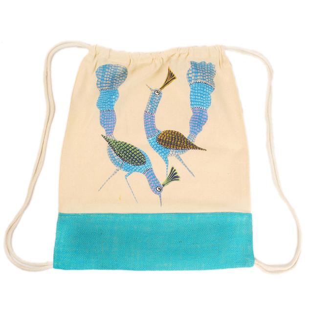 Earthworks Hand-painted Backpack - Gond art
