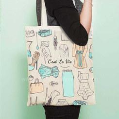 canvas bag with digital print