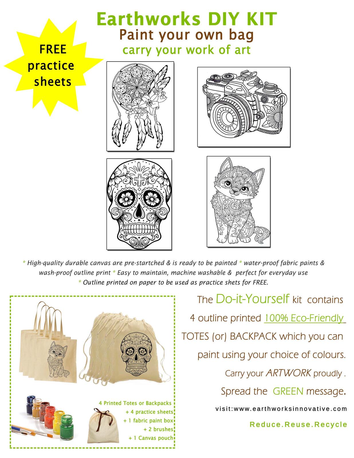 Diy kit adult earthworksinnovative chennai ecofriendly bags solutioingenieria Image collections