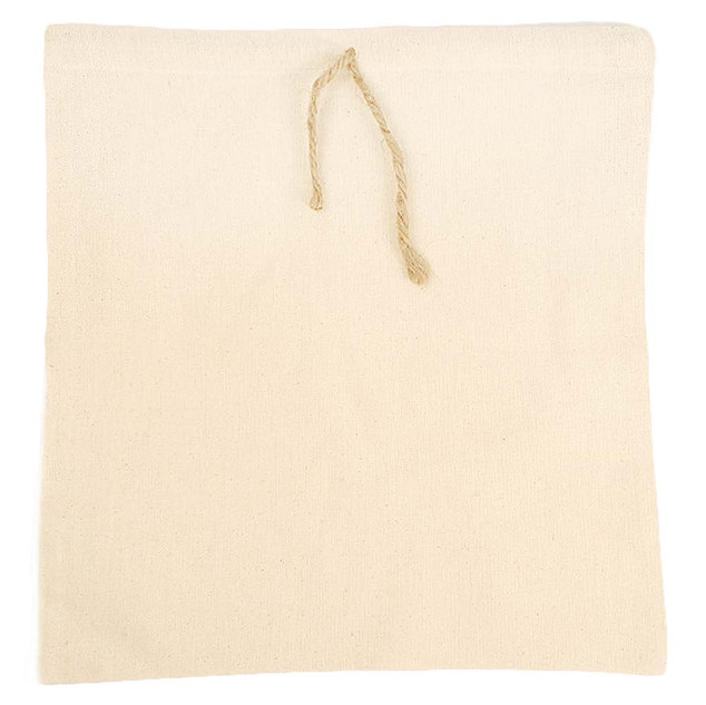 EARTHWORKS cotton gift pouches with jute drawstring