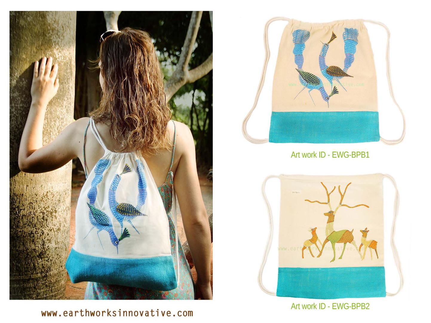 Earthworks handpainted bags - EWG-BPB1