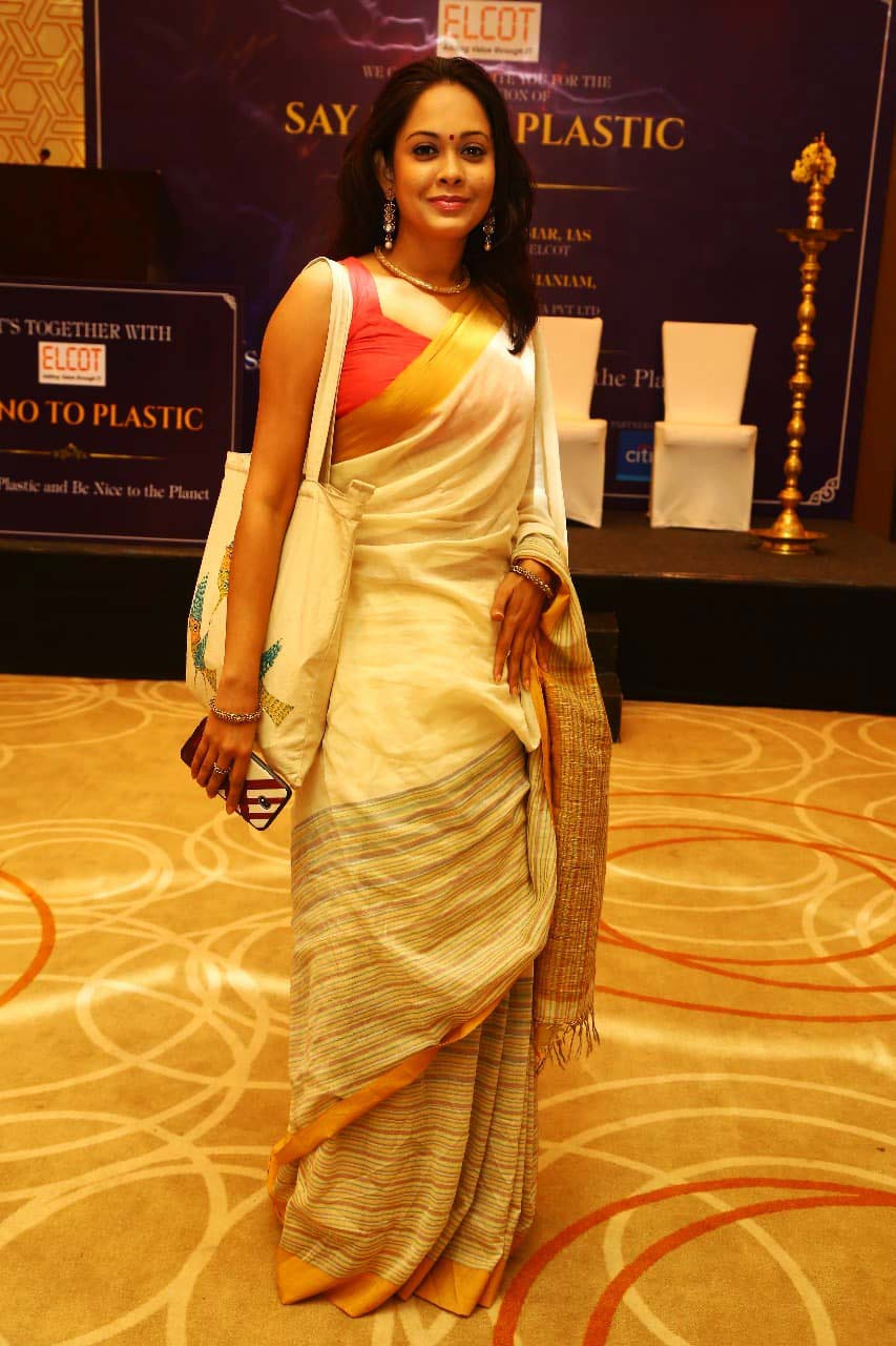 """Ms.Surya Dinkar at launch of """"Say NO to Plastic"""" drive - ELCOT"""