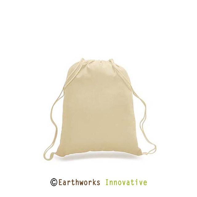 SKU: BP01 - Earthworks 100% Cotton Drawstring Backpack