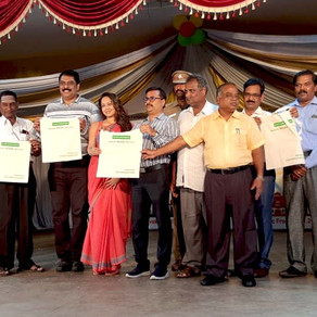 Earthworks Innovative felicitated at Solid Waste Management Awareness event organised by Rotary Club