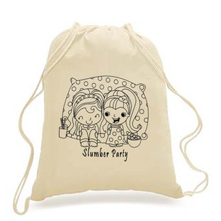 DIY-KIDS - Drawstring Backpack - Slumber party print