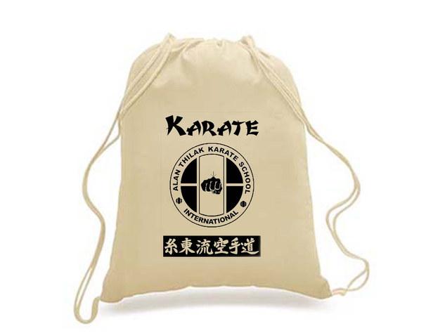 Alan Thilak Karate School - Drawstring Backpack