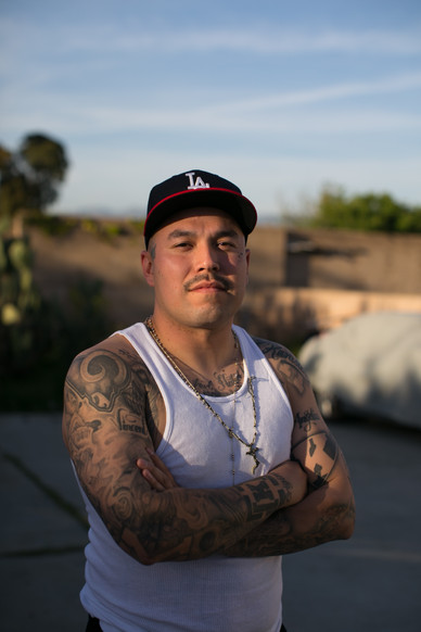 Nohemi's boyfriend, Vincent, has his arms and chest tattoed with important aspects of his journey and beliefs.