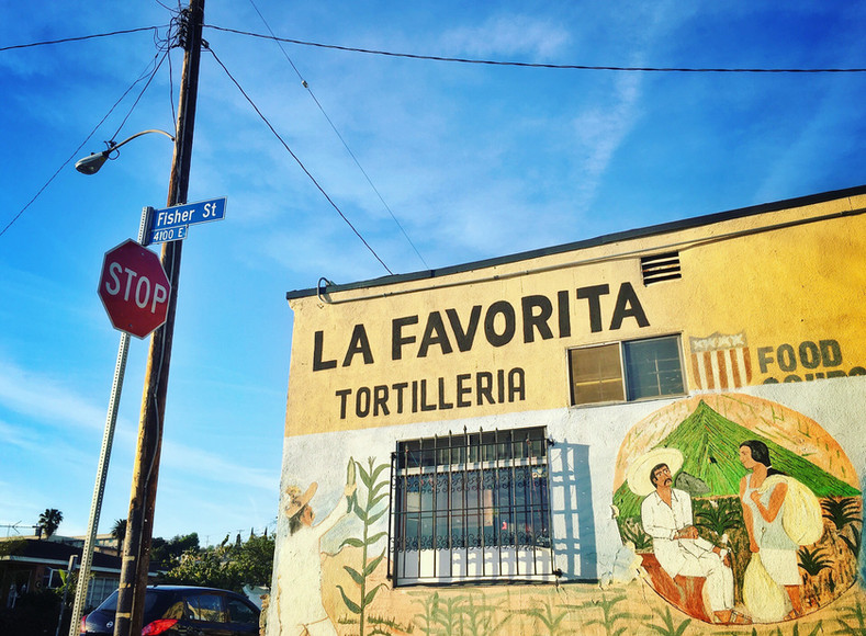 La Favorita, a tortillería owned by Olivia's aunt and uncle Rosa and Alfredo Luévano. Rosa is one of seven children in the Barrios family. Alfredo started working in this tortillería more than 40 years ago and later on became the owner.