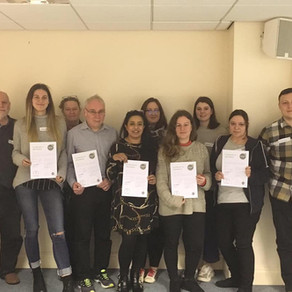 Our newly qualified Mental Health First Aiders