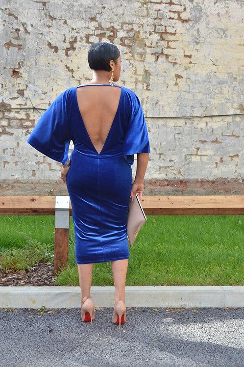 Natalie Velvet Midi Dress