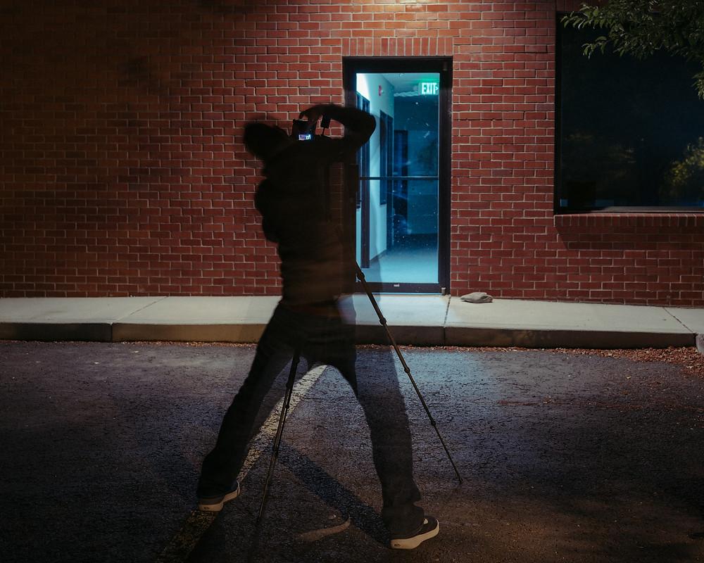 Matt Dempsey taking a shot during a recent meet up