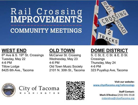 Rail Crossing Community Meetings
