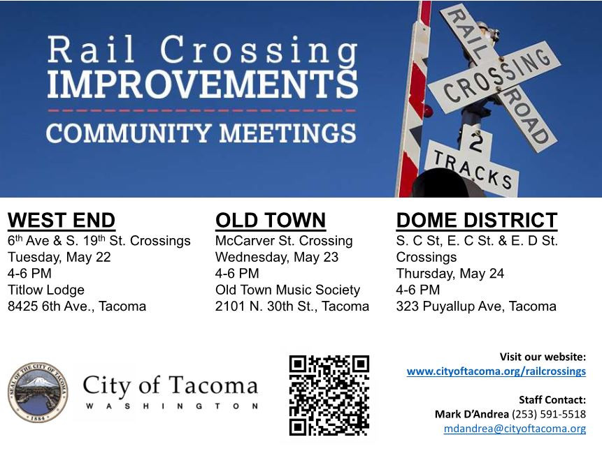 PH Consulting is happy to announce a second round of community meetings are scheduled for May 22nd, 23rd, and 24th. We will be presenting a summary of the feedback we received from the meetings n January along with a list of potential improvements options that were evaluated for each crossing. If you are interested in learning more about the project and the next steps please visit the city website.