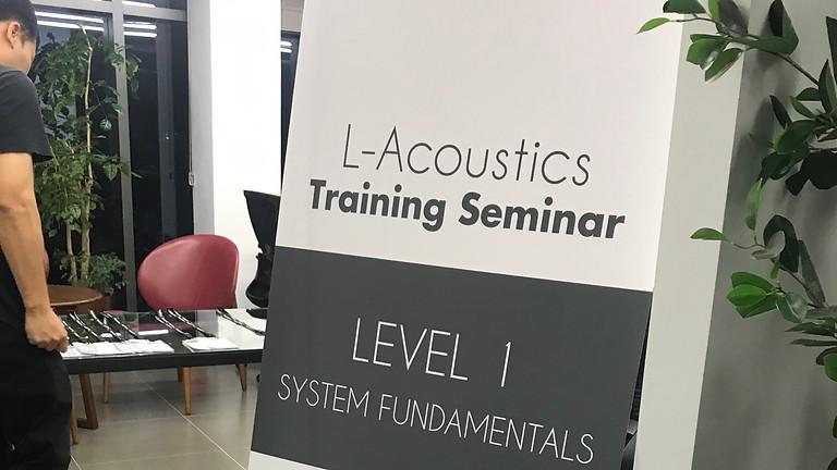 2020 L-ACOUSTICS LEVEL 1 Training