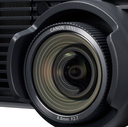 canon projector lens close up