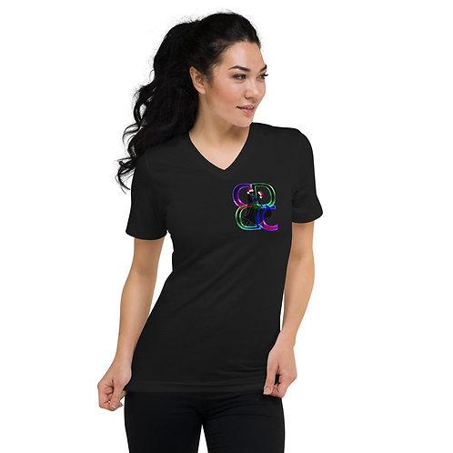 Unisex Holiday Short Sleeve V-Neck T-Shirt