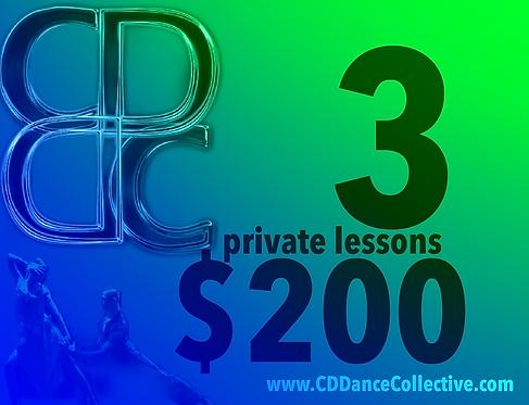 3 Private Dance Lessons