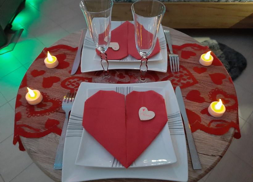 table en amoureux