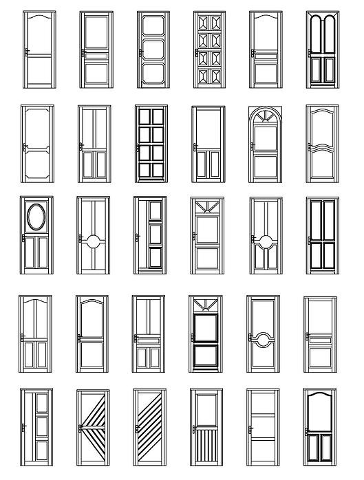 Houten voordeur modelen