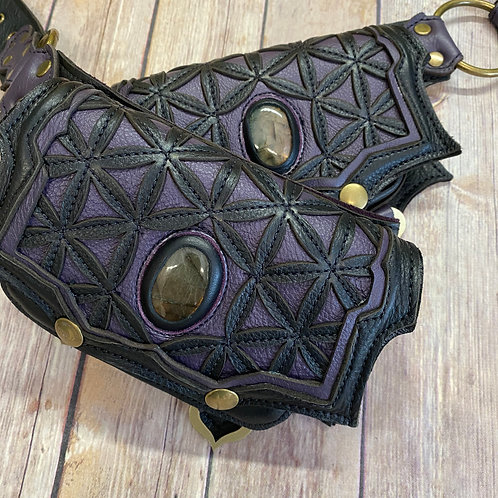 Double Flower of Life Pocket Belt