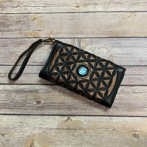Flower of Life Clutch Purse