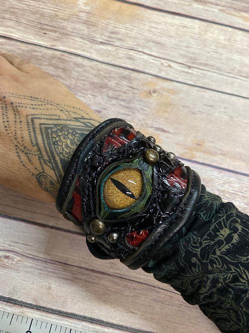 Leather Dragon Eye Cuff