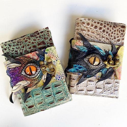 Leather bound dragon journal