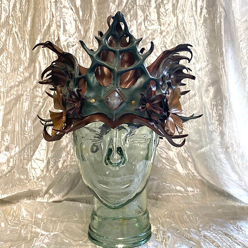 Sculpted Leather Crown