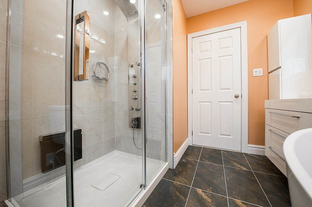 bathroom remodeling project in Austin home