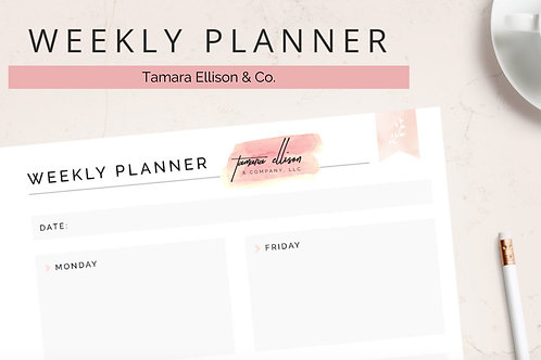 Daily & Weekly Planner Bundle