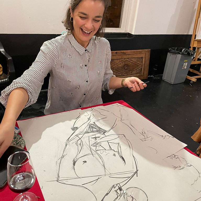 Ink Painting and Wine with Kurkreatief (R350)